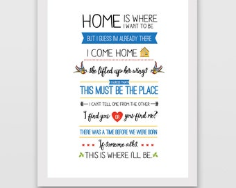 Talking Heads This Must Be the Place Lyric Print