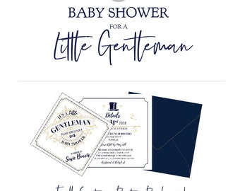 A Little Gentleman Baby Shower - A Complete Custom Party Package