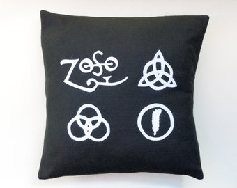 "Led Zeppelin ""Symbols"" Cushion cover"