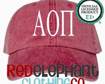 Alpha Omicron Pi Hat, Monogrammed Baseball Cap, Personalized Baseball Hat, Sorority Gift, Embroidered Ball Cap, Monogrammed Baseball Hat