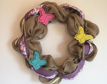 Butterfly Burlap Wreath