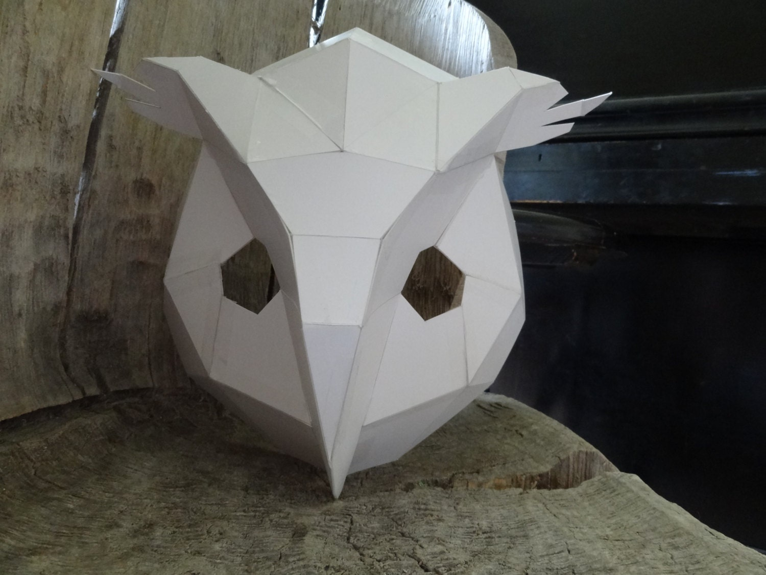 Make your own owl mask bird mask from cardboard instant zoom pronofoot35fo Images