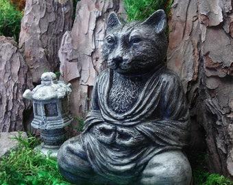Cat Buddha, Zen Buddha Garden, Buddha sculpture, Zen garden, spiritual, Zen Meditation, home decor, meditation, Altar, religion, 705