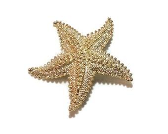 Vintage Goldtone Starfish Pin