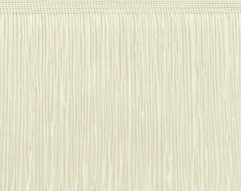 6 Inch Chainette Fringe Trim, Style# Cf06 Color Ivory (off White) - Ow, Sold By The Yard