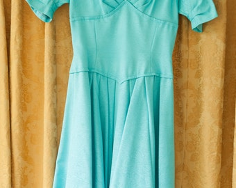 Vintage Dress  - Gorgeous Turquoise Party Dress