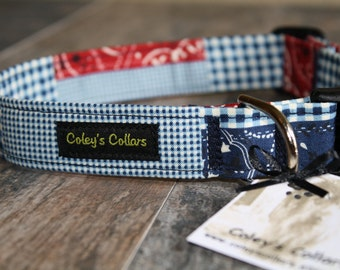 "Dog Collar ""Bandana Patches"""