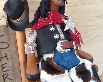 Buck - Cloth Doll E-Pattern Western Dressed Cowboy Horse epattern