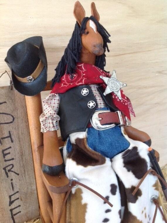 Buck - Cloth Doll E-Pattern Western Dressed Cowboy Horse epattern
