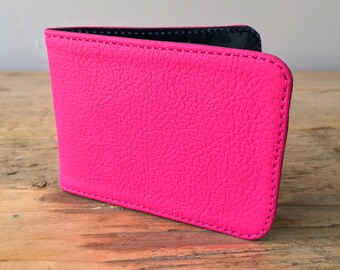 Pink Leather Card Holder - Travel card case - Oyster Card Holder - Credit Card Case - Card Wallet