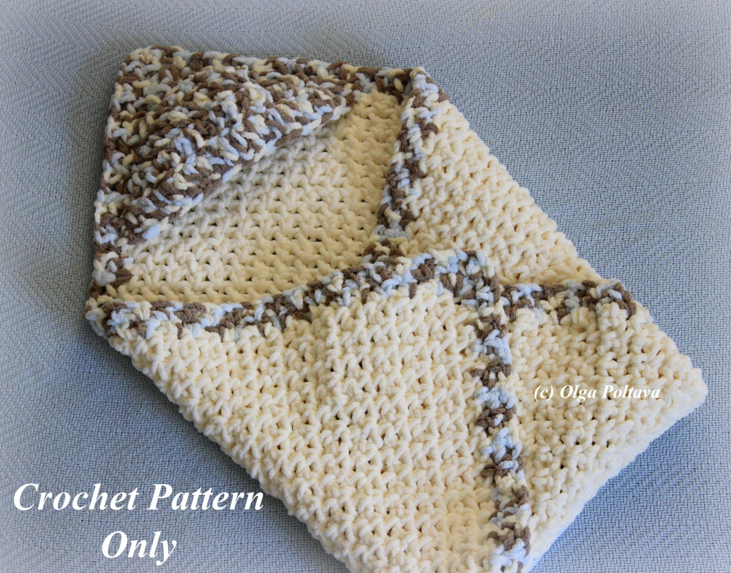 Hooded Baby Blanket Crochet Pattern Easy to Make Bernat Baby