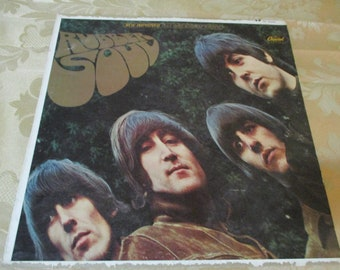 Vintage 1965 LP Record The Beatles Rubber Soul Excellent Condition Plus Stereo Version 16535