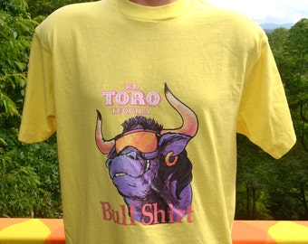 vintage 80s t-shirt el TORO tequila bull shirt liquor tee Medium drinks