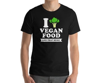 Vegan Food With Tree Sign Bella And Canvas Men's T-Shirt