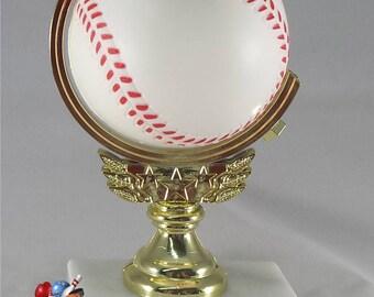 12 (TWELVE) Spinning Baseball Trophy - FREE ENGRAVING - Baseball Team Awards - Great for Kids