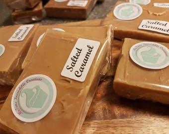 Homemade Salted Caramel Fudge