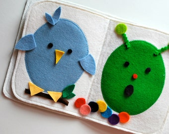 Felt Creative Play Book - Design Your Own Easter Eggs, Faces and Creatures - Creative - Busy Book - Felt Board - Quiet Book - Imagination