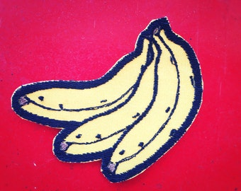 Bananas Iron-on Embroidered patch
