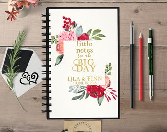 Little Notes Big Day, Custom Notebook, Bride Journal, Wedding Planner, Engagement Gift, Personalized Notebook, Notebook for Bride