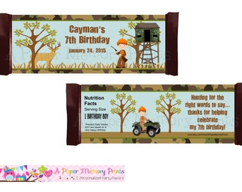 Hunting Candy Wrapper - DIY Printable