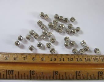 22 pcs of silver CRYSTAL 5mm  glass Rhinestones #C,  as pictured,  20 pieces  as one lot,  for Jewelry design