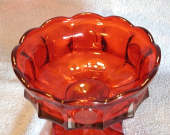 Fostoria Ruby Red Pedastal Coin Bowl