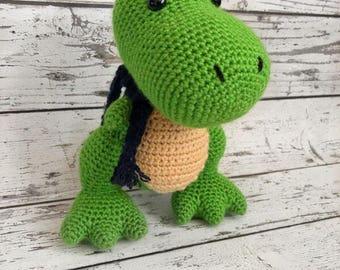 Max the T-Rex, Crochet Dinosaur Stuffed Animal, Plush Animal, Dinosaur Stuffed Toy, MADE TO ORDER