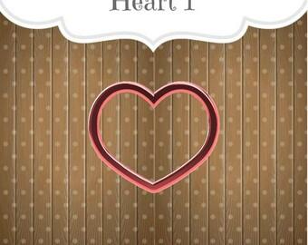 Heart 1 Cookie Cutter, Heart Cookie Cutter