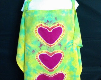Breast Feeding Cover, Tie Dyed Nursing Cover, Hand Dyed Nursing Apron, Child's Play Cape, Baby Shower Gift, Cotton Nursing Cover-Up, New Mom