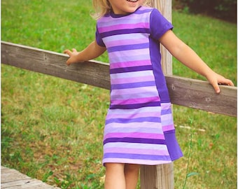 Violet Tunic and Dress: Girls Dress PDF Sewing Pattern, Tunic Sewing Pattern, Baby Dress Pattern