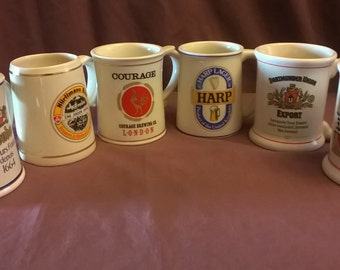 The Official Tankards of the World's Great Breweries, Limited Edition, 1981, Franklin Porcelain, Set of 6