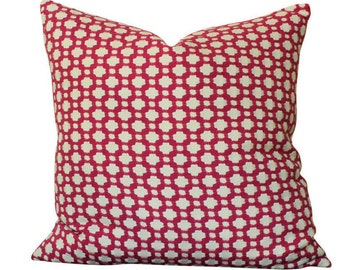 Schumacher Betwixt Pillow Cover in Magenta