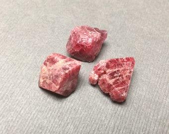 Red Spinel. Vietnam Spinel. Raw Gemstone. Gemmy. Undrilled. Wire Wrapping Stone. 14mm-16mm. One (1)