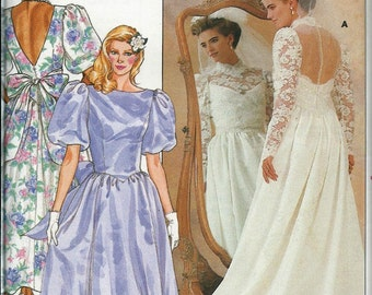 Butterick 3616  Bridal Gown and Bridesmaid Dress Pattern, Available Sizes 10, 12 & 14 UNCUT