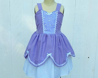 Sofia the First Dress, Princess Sofia dress,  lavender Dress, princess dress, practical princess, toddler dress, summer princess dress