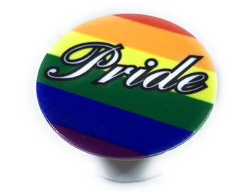 Expanding Grip Stand, Pop Mount Socket for Smartphone, Iphone and Tablet - LGBT Pride