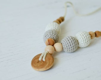 Natural Gift - 100% ORGANIC COTTON Nursing Necklace - KangarooCare Europe