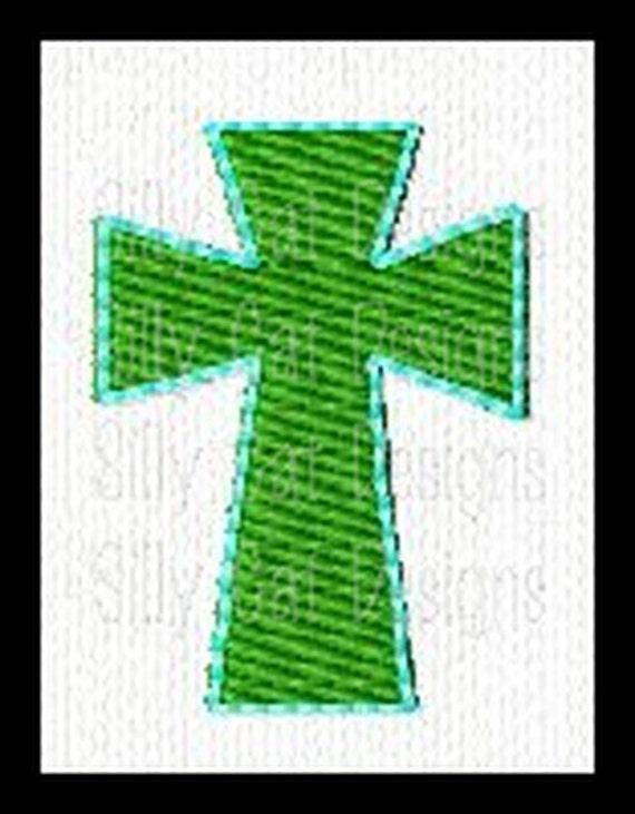 Cross Mini Fill Stitch Embroidery Design