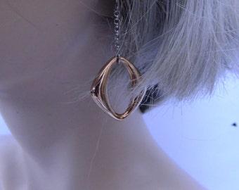 drop earrings, silver gold earrings, simple earrings, minimalist earrings, vintage earrings, costume jewelry