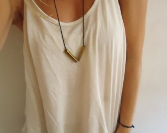 Simple Necklace - modern - Rubber  - Triangle - geometric - minimalist - Lines collection