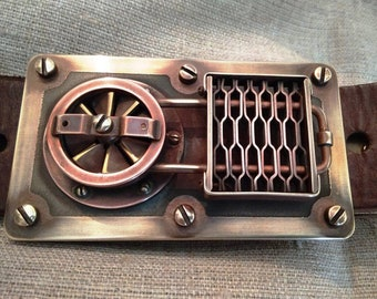 "Belt steampunk ""Belt of the cryogenic technician  of the steam era""."