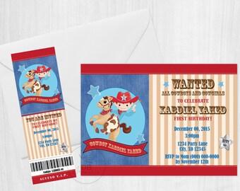 Little Cowboy Digital Invitation