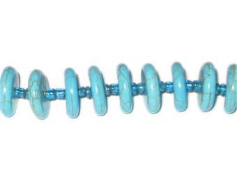 14 x 4mm Rondelle Turquoise Beads, approx. 24 beads