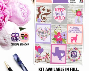Go Wild // Weekly Planner Kit *ON SALE*