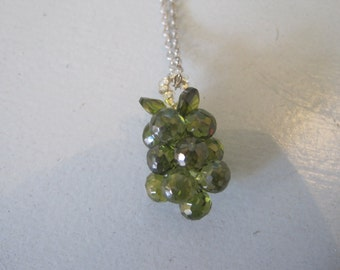 Grape Necklace - Green Grape Necklace -Grape Necklace -Grape - Grape Jewelry