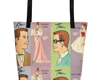 Vintage Prom Queen Beach Tote