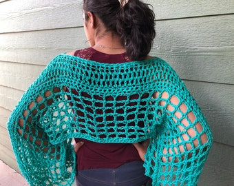 Crop sweater, green Accessories, sea green crop top, beach outfit , bikini cover, gift for Mom , gift for teen, summer wraps , fall wraps