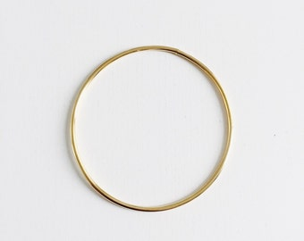 Minimal simple gold filled thin bangle bracelet, thin bracelet, simple bracelet, golden bangle