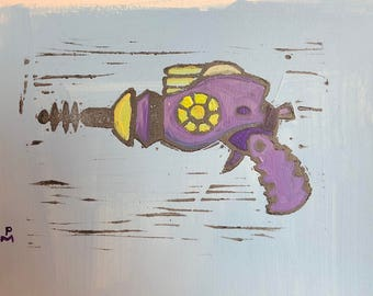 Pruple and Yellow Raygun