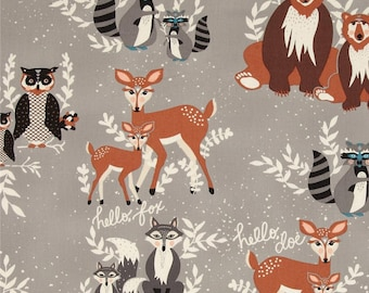 Oh, Hello Fog - HELLO, BEAR collection by Bonnie Christine for Art Gallery Fabrics HBR 4430